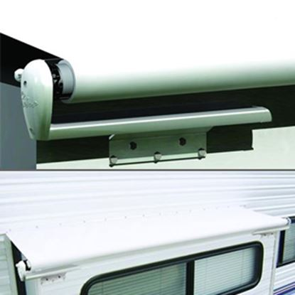 """Picture of Carefree Slideout Cover (TM) Solid White Vinyl 106-113"""" Roof X 42""""Ext Power Slide-Out Awning LH1130042 00-7938"""
