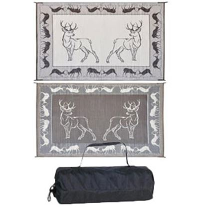Picture of Ming's Mark  9' x 12' Black/Brown/Beige Deer Reversible Camping Mat PA1 01-0043