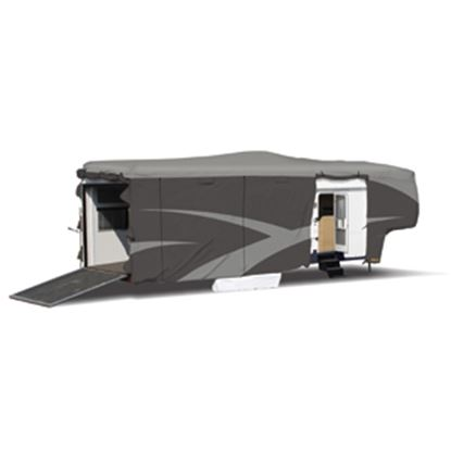 """Picture of ADCO Designer SFS Aquashed (R) Gray Fabric Cover For 30' 1""""-34' 6"""" Toy Haulers 52275 01-0263"""