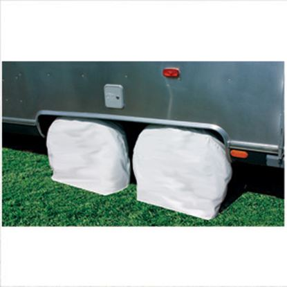 """Picture of Camco  1-Pair Arctic White 30""""-32"""" Tire Covers 45323 01-1384"""