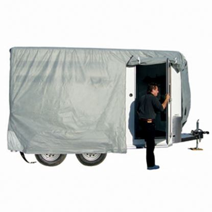 "Picture of ADCO SFS AquaShed (R) Gray Fabric/Poly Cover For 16' 1""-18' Bumper Pull Horse Trailers 46005 01-3434"