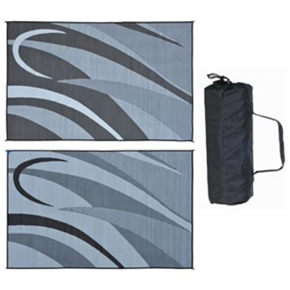 Picture of Ming's Mark  8' x 12' Black/Silver Reversible Camping Mat GA1 01-4991