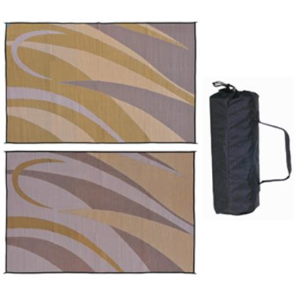 Picture of Ming's Mark  8' x 12' Brown/Gold Reversible Camping Mat GA7 01-4993