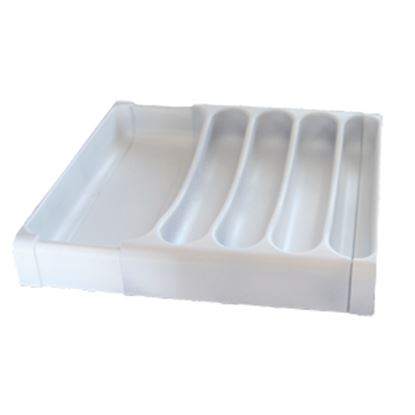 Picture of Camco  White Plastic Cutlery Tray w/ 5 Compartments 43503 03-0429