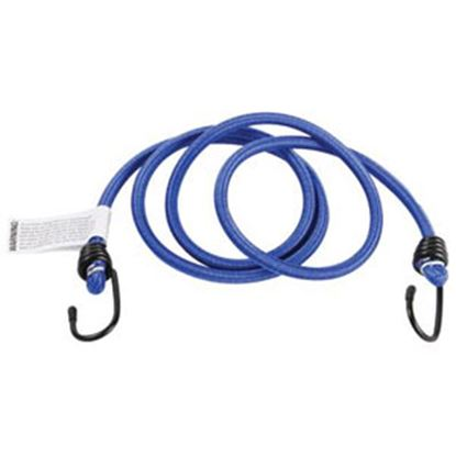 """Picture of Camco  50"""" Blue Bungee Cord w/ Rubber Coated Steel Hooks 51001 03-0508"""