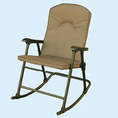 Picture of Prime Products  Desert Taupe Cambria Folding Rocker Chair 13-6805 03-0806