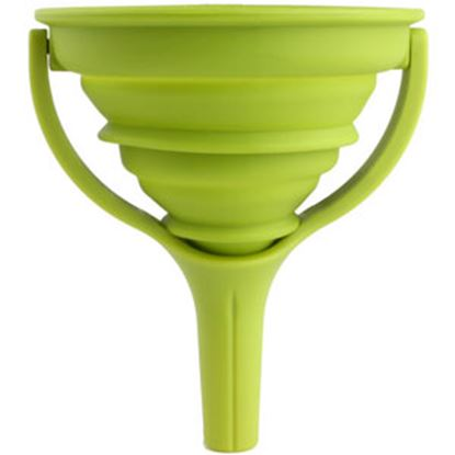 "Picture of Dexas  Green 4.5"" Collapsible Funnel GCF383 03-1124"