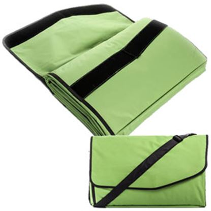 Picture of Camco  Fleece w/ Waterproof Backing Chartreuse Picnic Blanket 42808 03-1289