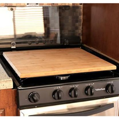 Picture of Camco  Natural Bamboo Universal Fit Stove Top Cover 43571 03-1956
