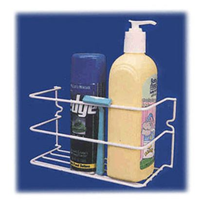 Picture of AP Products  White Screw Mount Toiletries Holder 004-500 03-1985