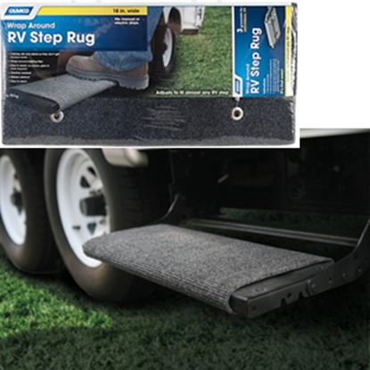"Picture of Camco  18"" Wide Gray Wrap-Around Step Rug 42925 04-0311"