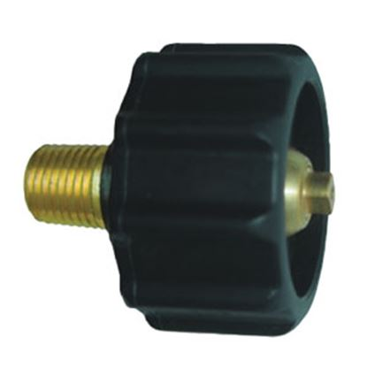"""Picture of JR Products  1-5/16"""" Female ACME Quick Connect x 1/4"""" MPT LP Hose Connector 07-30265 06-0076"""