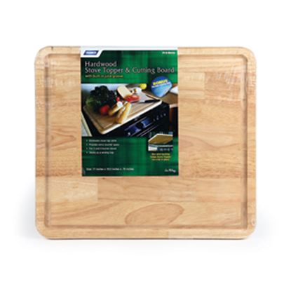 """Picture of Camco  Natural 17""""L x 19-1/2""""W x 3/4""""H Hardwood Cutting Board 43753 07-0278"""