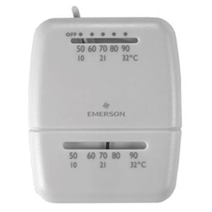 Picture of White-Rodgers  Single Stage Heat/Cool Wall Thermostat  08-0068