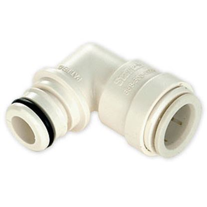 "Picture of Sea Tech 35 Series 1/2"" Fem CTS QC Copper Tube Off-White Polysulfone Fresh Water 90 Degree Elbo 013576-10 10-0981"