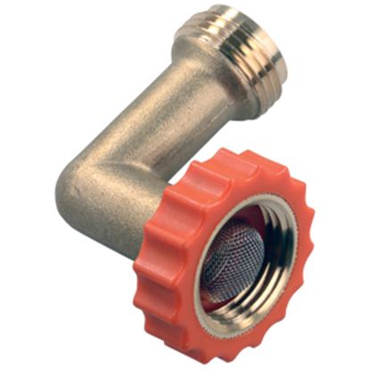 Picture of JR Products  Brass 90 Degree Hose Saver 62235 10-1119