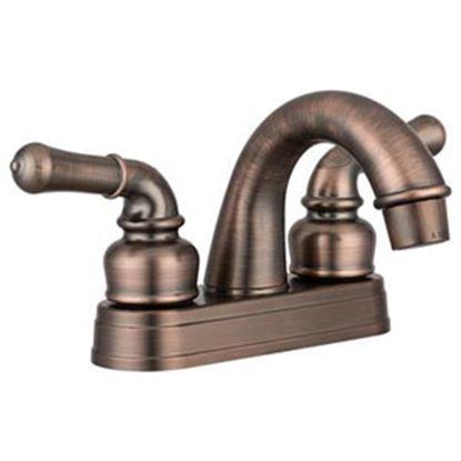 Picture of Dura Faucet  Bronze w/2 Teapot Handle Classical Arc Lavatory Faucet DF-PL620C-ORB 10-1189