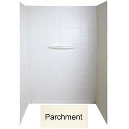 "Picture of Better Bath  1-Piece Parchment 24""L x 40""W x 56""H Shower Surround 209468 10-1760"