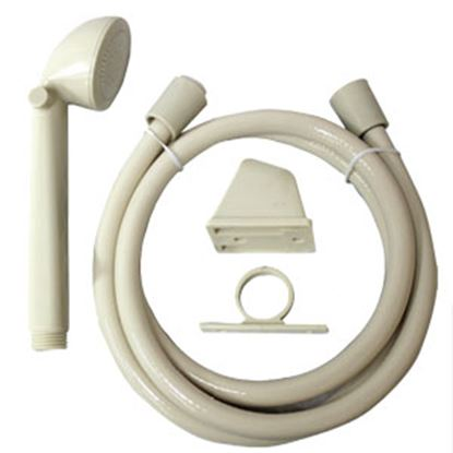 """Picture of Utopia  Ivory Handheld Shower Head w/60"""" Hose 39020 10-1816"""