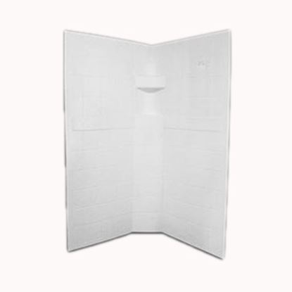 "Picture of Specialty Recreation  3-Piece Parchment 34"" x 34"" x 67"" Neo Angle Shower Surround NSW3434P 10-1887"