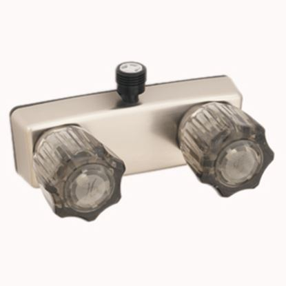 """Picture of Empire Brass  4"""" Nickel Plated Plastic Shower Valve w/Smoke Knobs U-YCJW53VBN 10-2341"""