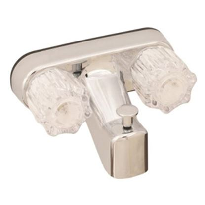 """Picture of Empire Brass Ultra Line Chrome w/Clear Knobs 4"""" Lavatory Faucet U-YJW41VB 10-2343"""