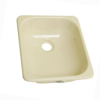 "Picture of Better Bath  12-3/4"" X 15"" Square Parchment ABS Plastic Outdoor Kitchen Sink 209351 10-5707"