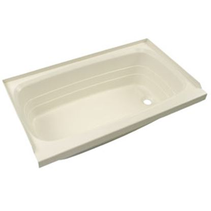 "Picture of Better Bath  Parchment 24""x36"" RH Drain ABS Standard Bathtub 209376 10-5732"