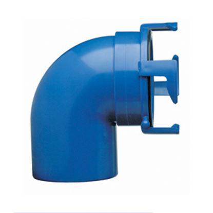 Picture of Prest-o-Fit Blue Line (R) Blue Four Hook Bayonet 90Deg Sewer Hose Connector 1-0020 11-0221