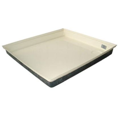 """Picture of ICON  Colonial White 27""""x24""""x4"""" Rectangular Shower Pan 00460 11-0565"""