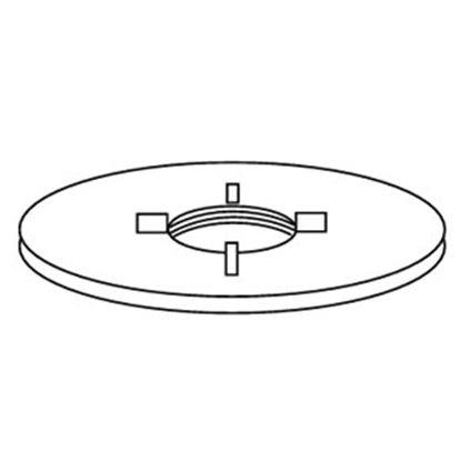 "Picture of Custom Roto Molding  Polyethylene 1/2"" FPT Flush Threaded Spin Holding Tank Fitting 83 11-0966"