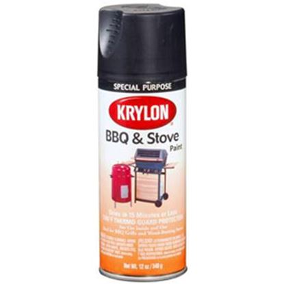 Picture of Krylon  12Oz Black Aerosol Spray Can Paint 1618 13-0566