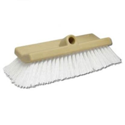 "Picture of Star Brite  10"" Rectangular White Medium Polymer Bristle Car Wash Brush Head 040016 13-1555"
