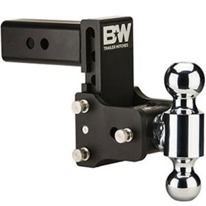 """Picture of B&W Hitches Tow & Stow (TM) Class V 2-1/2"""" 14.5K 7.45"""" Drop x 7.45"""" Lift Triple Ball Mount TS20049B 14-1724"""