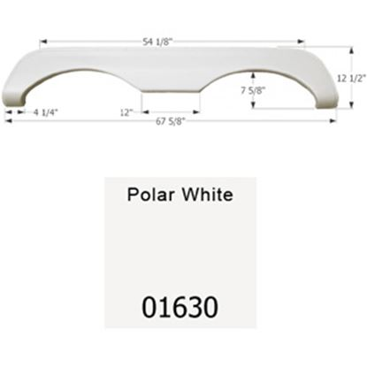 Picture of Icon  Polar White Tandem Axle Fender Skirt For Mckenzie/ Holiday Rambler Brands 01630 15-0508
