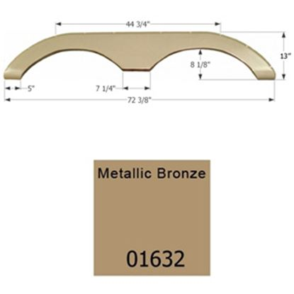 Picture of Icon  Metallic Bronze Tandem Axle Fender Skirt For Keystone Brands 01632 15-1630