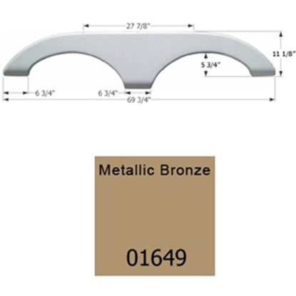 Picture of Icon  Metallic Bronze Tandem Axle Fender Skirt For Keystone Brands 01649 15-1637
