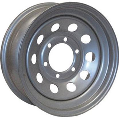 "Picture of Americana  15"" x 5"" 5-Lug Silver Trailer Wheel 20436 17-0326"