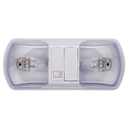 Picture of Brilliant Light (TM)  White w/Double Clear Lens Ceiling Mount Interior Light w/Switch 016-BL3003 18-0286
