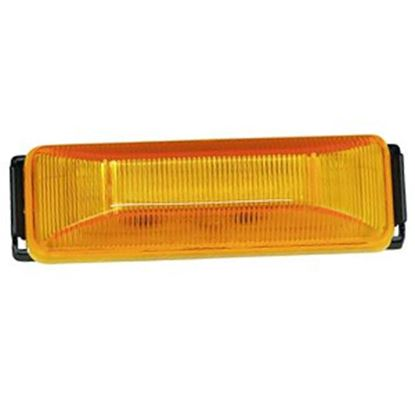 """Picture of Bargman 38 Series Amber 3.93""""x1.22""""x1.02"""" LED Side Marker Light 42-38-034 18-0457"""