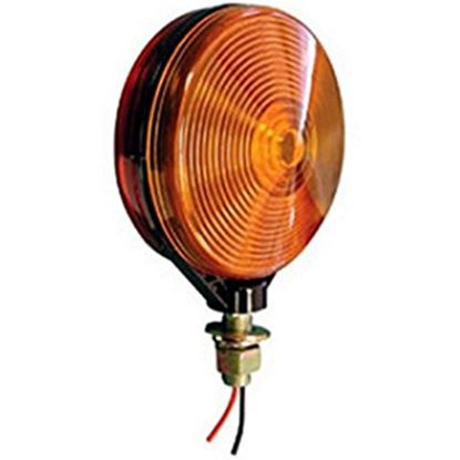 """Picture of Peterson Mfg.  Amber/Red 4-1/8"""" Stop/ Turn/ Tail/ Park Light V313-2RA 18-0514"""