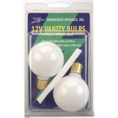 Picture of Progressive Dynamic  2-Pack White Lavatory Vanity Light Bulb PD303 18-1133