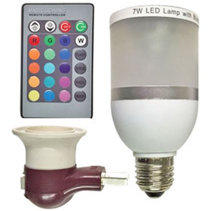 Picture of Diamond Group  120V/40W Multi Color LED Bluetooth Speaker Bulb w/ Remote H11001 18-1481