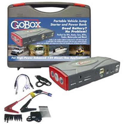 Picture of Diamond Group GoBox (TM) 600A Battery Jump Starter w/LED Lights H11500 18-1483