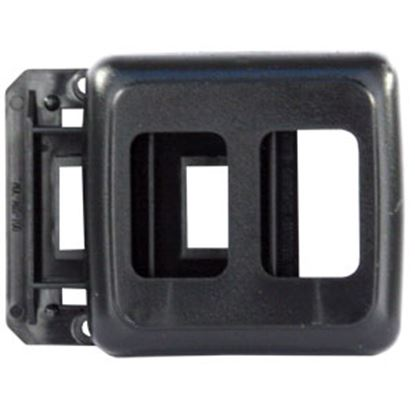 Picture of JR Products  Black Double Opening Multi Purpose Switch Faceplate w/Base 12315 19-0167