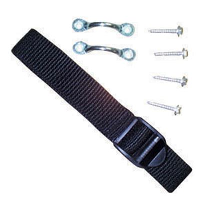 "Picture of JR Products  54"" Black Battery Box Strap 17544 19-0754"