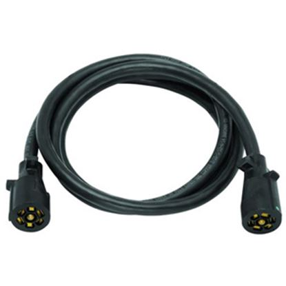 Picture of Bargman  7-Way Molded Trailer Wiring Connector Adapter w/8' Cable 50-67-210 19-0897