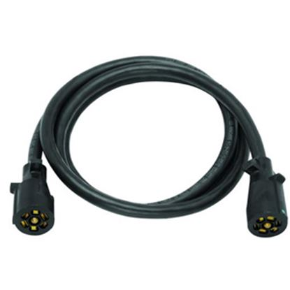 Picture of Bargman  7-Way Molded Trailer Wiring Connector Adapter w/6' Cable 50-67-901 19-0898