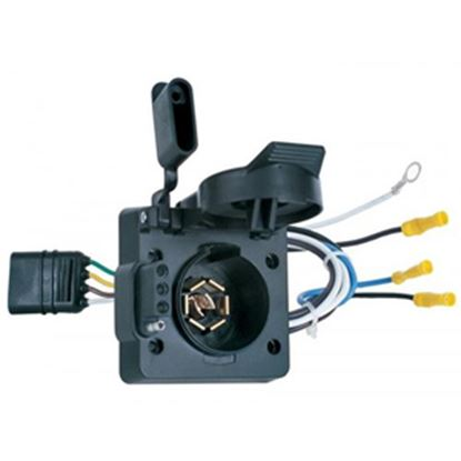 Picture of Hopkins Multi Tow (R) 4-Flat To 4-Flat & 7-Round Adapter Trailer Wiring Connector Adapter 47185 19-0984