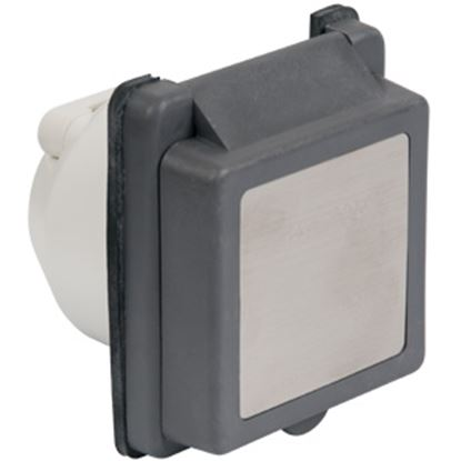 Picture of Marinco  Black 125V/ 30A Indoor/ Outdoor Single Receptacle 301ELRV.BLK 19-1691